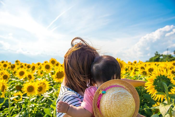 夏場の赤ちゃんとママ
